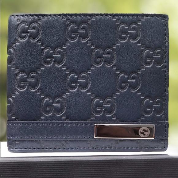 5c57e040a451 Gucci Bags | Metal Bar Ssima Bifold Wallet | Poshmark